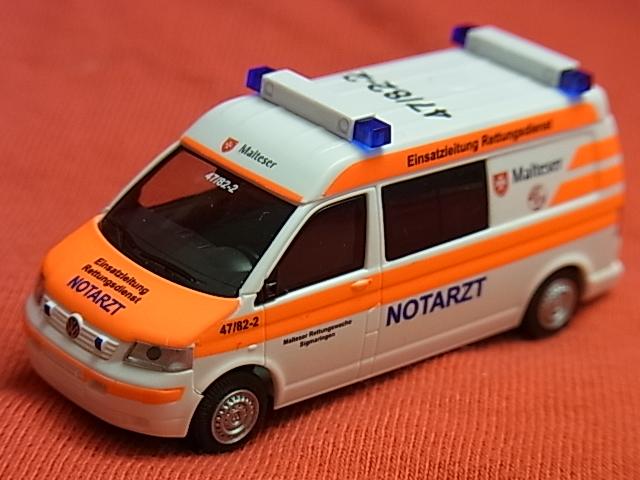 Rietze 1//87 52638 VW T5 GP Notarzt Malteser Gütersloh OVP LN2916